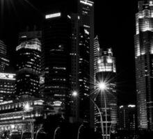 Singapore - Black and White Sticker