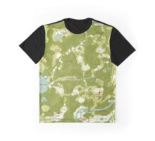 Two Forks Map Graphic T-Shirt