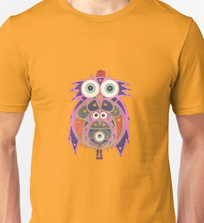 Momma Owl with Red Fez Unisex T-Shirt