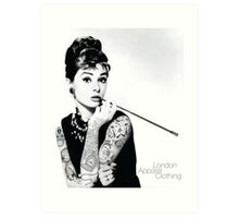 Hepburn Ink'd Art Print