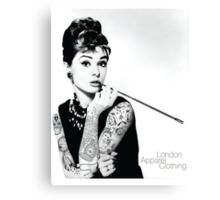 Hepburn Ink'd Canvas Print