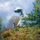 Woman with Parasol by John Rivera