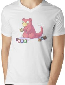 Pokemon Slowpoke Mens V-Neck T-Shirt