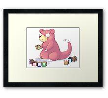 Pokemon Slowpoke Framed Print