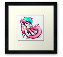 Pinkie Shark Framed Print