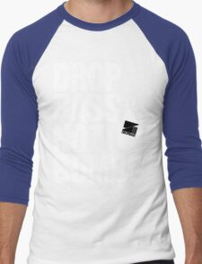 Drop Bass Not Bombs (Front-line) Men's Baseball ¾ T-Shirt
