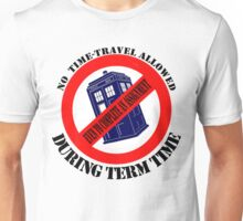 Doctor Who No Time Travel Allowed College Uni Fresh Look Unisex T-Shirt