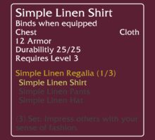 Simple Linen Shirt (set item) by DPSmachine