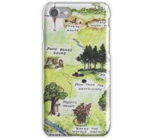 Hundred Acre Woods Map- Winnie the Pooh iPhone Case/Skin