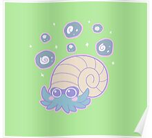 Omanyte & Fossils Poster