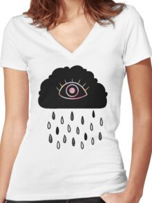 Eye Cloud Women's Fitted V-Neck T-Shirt