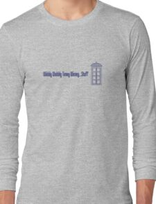 Wibbly Wobbly Timey Wimey...Stuff (version 2) Long Sleeve T-Shirt