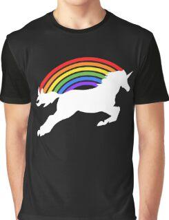 Retro Rainbow Unicorn Graphic T-Shirt