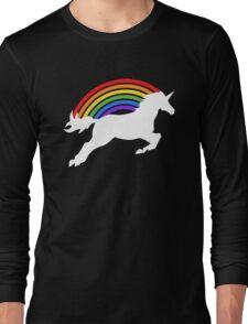 Retro Rainbow Unicorn Long Sleeve T-Shirt
