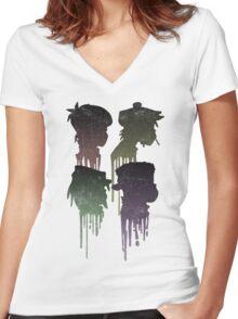 Demon Days Drip  Women's Fitted V-Neck T-Shirt