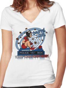 Souffle Girl Women's Fitted V-Neck T-Shirt