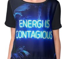 Energi is Contagious Chiffon Top