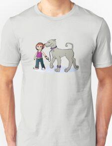 Stilysh girl with her dog T-Shirt