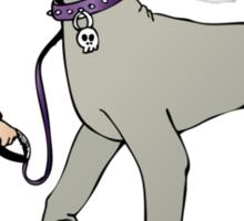 Stilysh girl with her dog Sticker