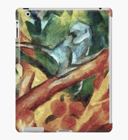 Monkey After Franz Marc, 1912 iPad Case/Skin