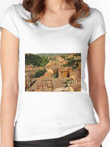 Rooftops of Perugia Women's Fitted Scoop T-Shirt