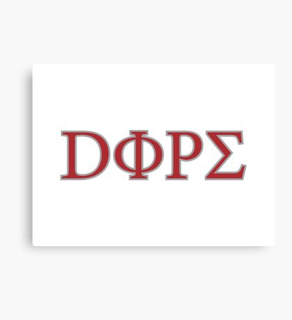 DOPE Greek Logo Canvas Print