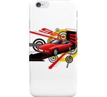 T-shirt 'Explosion' Red Porsche 924  iPhone Case/Skin