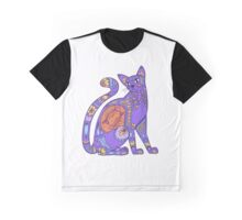 Pattern Cat - sunset Graphic T-Shirt