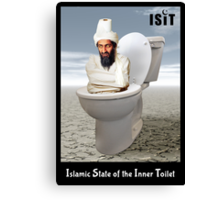 Islamic State of the Inner Toilet Canvas Print
