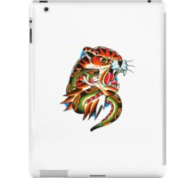 Traditional Tiger Head and Snake Tattoo design iPad Case/Skin