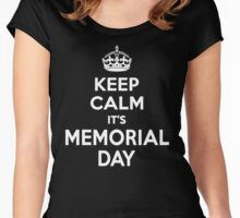 Keep Calm It's Memorial Day Women's Fitted Scoop T-Shirt