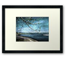 Barrier Beach - Old Woman Creek Framed Print