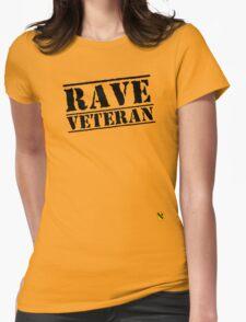 Rave Veteran - Black Womens Fitted T-Shirt