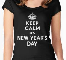 Keep Calm It's New Year's Day Women's Fitted Scoop T-Shirt