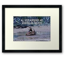 All Good Horsemen Framed Print