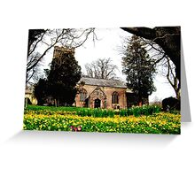 Church In Springtime Greeting Card