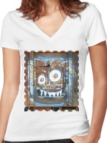 Rusty Grin Women's Fitted V-Neck T-Shirt