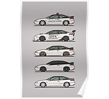 Stack of Pearl White Subaru Alcyone SVX Poster