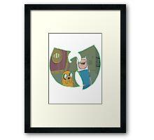 Adventure Time Forever - Green Outline Framed Print