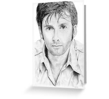 David Tennant sketch Greeting Card