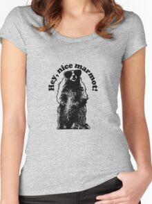 Hey, Nice Marmot! Women's Fitted Scoop T-Shirt