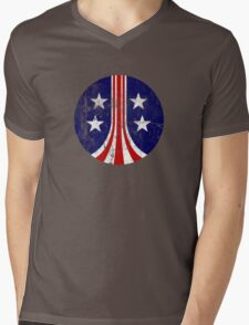 USCM Stars and Stripes Mens V-Neck T-Shirt