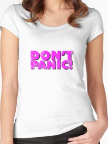 Don't Panic! Women's Fitted Scoop T-Shirt