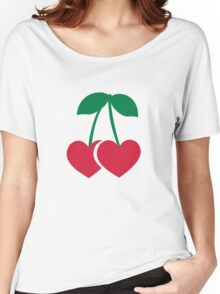 Cherry hearts Women's Relaxed Fit T-Shirt