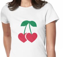 Cherry hearts Womens Fitted T-Shirt