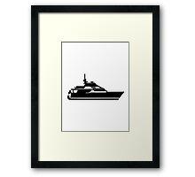 Motorboat yacht Framed Print