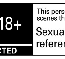 Scenes Including Sexual References Sticker