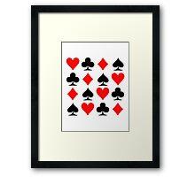 Poker signs Framed Print