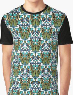 Dragonfly Nouveau- Blue Graphic T-Shirt