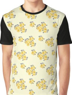 Yellow Roses Pattern,  #redbubble, #abstract, #pattern, #floral Graphic T-Shirt